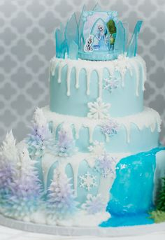 Found the official Frozen cake topper on Cakes.com. So inspired.