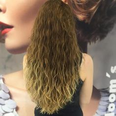 Wavy Perm For Long Ombre Hair