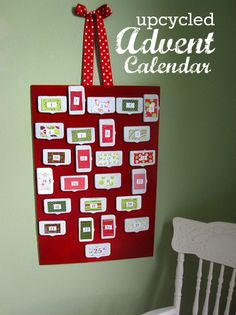 DIY Advent Calendar- Made From Wipes Lids