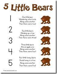 5 Littl bears Song