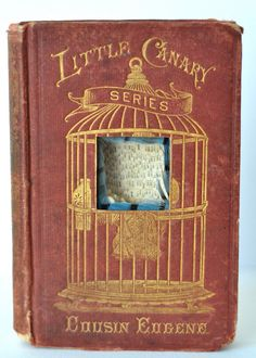 little canary  altered book by BrookeSchmidt on Etsy 300.00
