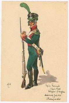 Legion Provinciales, 1 Legion Naples; Voltigeur gd. uniforme... Juin 1814