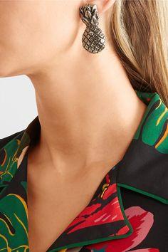 Boucles D'oreilles Clip Plaqué Or - Taille Valentino xyszJs0CbK