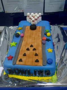 bowling alley cake ideas - Google Search