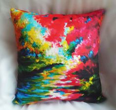 Landscape Impressionism Painting Pillow Case Cover