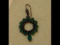 ▶ Sidonia's handmade jewelry - Swarovski Crystal Wreath Earrings - Swarovski earrings - YouTube