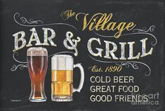 Village Bar And Grill Painting