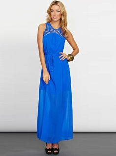 COOPER ST STRAIGHT LACED MAXI DRESS