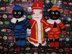 Gebreide Sinterklaas en Zwarte Piet | Knuffels-breien-en-haken.jouwweb.nl