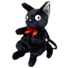 45cm/18inches Kiki's Delivery Service Small Black Cat Jiji Plush Doll... ($24) ❤ liked on Polyvore featuring bags, backpacks, bags and backpack, fillers - black and filler