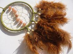 MOndstein im grünen Traumfänger DReamcatcher von Traumnetz-com :  Traumfänger, Schmuck, Bilder auf DaWanda.com