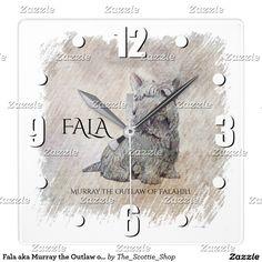 Fala aka Murray the Outlaw of Falahill Square Wall Clock