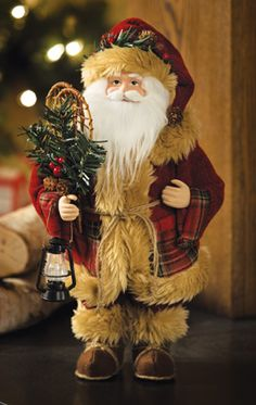 Rustic Woodland Northwoods Holiday Christmas Santa----Plaid jacket