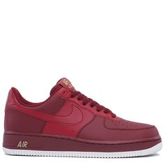 Nike Air Force 1  07 Shoe - Team Red Summit White Metallic Gold Team Red  0aaa35211a
