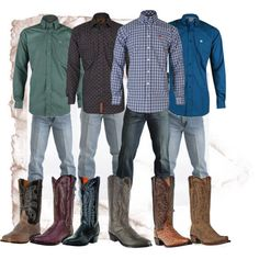 "Keep da men sexy! ""Cinch Jeans and Shirts Pair Well with Dan Post Boots!"" by rcconline on Polyvore"