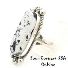 Four Corners USA Online Native American Artisan Jewelry - White Buffalo Turquoise Ring Size 7 1/4 Navajo Artisan Larry G Yazzie NAR-1409 Native American Silver Jewelry, $125.00 (http://stores.fourcornersusaonline.com/white-buffalo-turquoise-ring-size-7-1-4-navajo-artisan-larry-g-yazzie-nar-1409-native-american-silver-jewelry/)