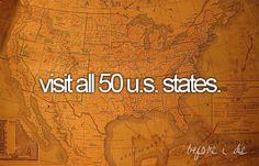 visit all 50 u.s. states.