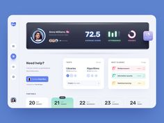 Students Dashboard designed by Halo Web for Halo Lab. Connect with them on Dribbble; Student Dashboard, Web Dashboard, Dashboard Design, Ui Design, Student Web, Student Portal, Motion App, Portal Design, Ui Ux
