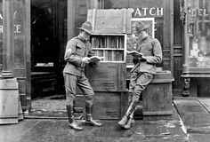 Entered World War I American soldiers in Paris just after the armistice of World War I. The library was founded with books sent to U. GIs serving in the war. (American Library in Paris) Historical Artifacts, American Soldiers, Bibliophile, Love Book, World War Ii, Books To Read, Nostalgia, The Past, Reading