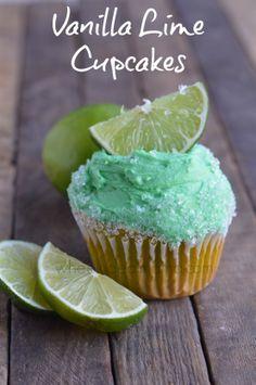 Vanilla Lime Cupcakes
