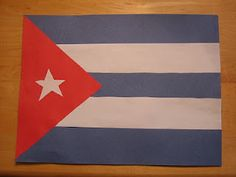 Cuban flag with construction paper