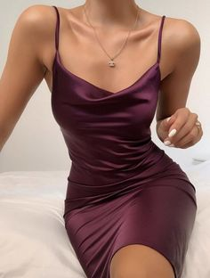 Party Dresses white flowy dress party wear for girls evening party gowns – uooklly Hoco Dresses, Satin Dresses, Pretty Dresses, Formal Dresses, Formal Wear, White Flowy Dress, Purple Dress, Evening Party Gowns, Outfit Trends