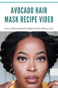 Check out how Cardi B creates her avocado Hair Mask Recipe Video Tutorial.