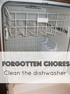 Quick, simple tips to clean your dishwasher using only two ingredients you probably already have in your pantry: baking soda and vinegar. So easy, and keeps your dishwasher performance efficient!