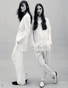 a fresh start: ana gilca and polina sova by wendelin spiess for uk elle april 2013