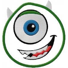 Mike Wazowski Monsters Inc embroidery design 4x4 5x7 6x10 $3