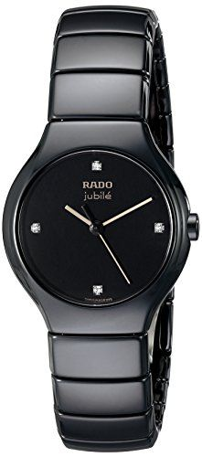 Rado Womens R27655752 True Jubile Analog Display Swiss Quartz Black Watch *** Check out the watch by visiting the link.