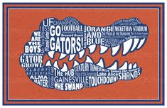 University of Florida Gator 11x17 minimalism poster print - Graduation, Teacher Gifts - Home & Dorm Decor. $16.00, via Etsy.