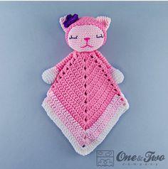 """Ravelry: Kitty Lovey Security Blanket pattern by Carolina Guzman."", ""Shop BG Outdoor Indoor Fake Dummy Imitation CCTV Security Camera W/ Blinking Fla Crochet Security Blanket, Crochet Lovey, Lovey Blanket, Crochet Amigurumi, Manta Crochet, Crochet Blanket Patterns, Baby Blanket Crochet, Crochet Dolls, Free Crochet"