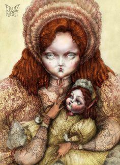 #lily cole #fashion #art #art on pinterest #model #vintage #doll #vintage doll #digital art #dark art #franz_martlet