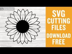 Sunflower svg free, sunflower cut file, sunflower vector, instant download, silhouette cameo, shirt design, free vector files, dxf 0893 – freesvgplanet Cricut Svg Files Free, Circuit Crafts, Chanel Logo, Sunflower Design, Cricut Explore Air, Cricut Tutorials, Silhouette Machine, Cricut Creations, Cricut Vinyl