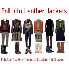 """""""Fall Leather Jacket Outfits by Fabuliss™"""" by fabulissstyle on Polyvore"""
