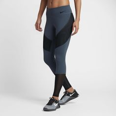 Nike Power Legendary Women's Mid Rise Training Tights Size XL (Blue) -  Clearance Sale
