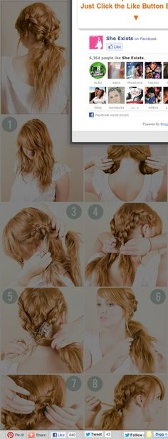She Exists: How-To: Instant Hairstyles- Do Yourself