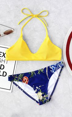 Shop Botanical Print Mix And Match Bikini Set online. ROMWE offers Botanical Print Mix And Match Bikini Set & more to fit your fashionable needs. Bikini Babes, Bikini Set, Bikini Tops, Bikini Beach, Bikini Models, Set Fashion, Look Fashion, Woman Fashion, Bikini Mix And Match