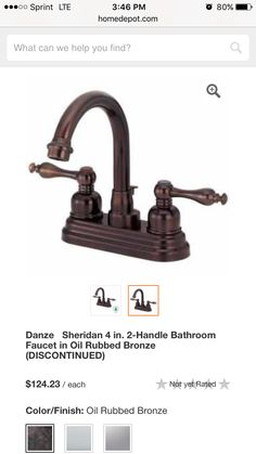French country inspired bathroom faucet