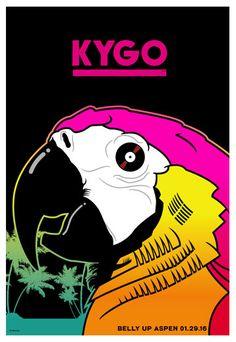 Kygo - Belly Up Aspen,   1/29/2016  Poster by Scrojo