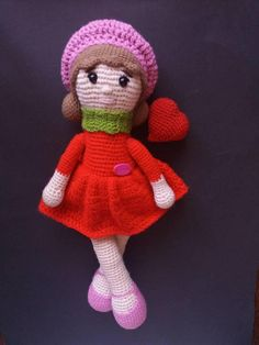 Check out this item in my Etsy shop https://www.etsy.com/listing/575649145/crochet-doll-in-red-dress-amigurumi-doll