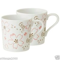 Hello kitty Mug cup 2 pieces set MADE IN JAPAN MIB F/S SANRIO from JAPAN