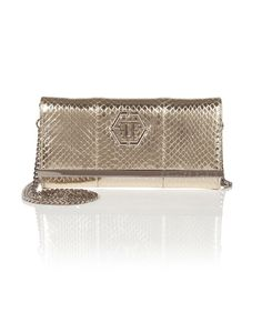"PHILIPP PLEIN Clutch ""Gilda"". #philippplein #bags #lace #leather #clutch #shoulder bags #lining #hand bags #cotton #"