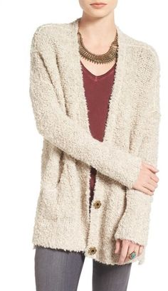 Free People Bouclé Cardigan - A touch of alpaca adds luxurious softness to a…