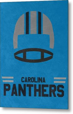 Panthers Metal Print featuring the mixed media Carolina Panthers Vintage Art by…