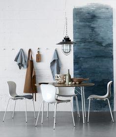 Wonderful dining room inspiration. Pendant lamp } Image Via: Fritz Hansen, Flickr