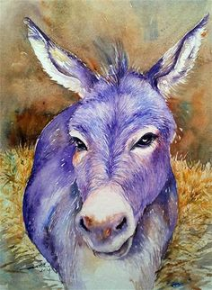 """Daily Paintworks - """"Hayday Donkey"""" by Arti Chauhan"""