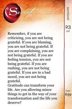 Attitude of Gratitude. #TheSecret