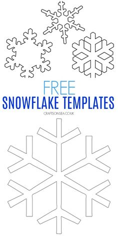 Free Snowflake Template easy snowflake template for crafts Two free snowflake templates perfect for kids crafts - a easy big design and three smaller designs on PDF's plus some ideas on how to use them! Snowflakes Art, Snowflake Craft, Snowflake Designs, Snowflake Pattern, Snowflakes For Kids, Winter Activities For Kids, Winter Crafts For Kids, Craft Projects For Kids, Craft Ideas